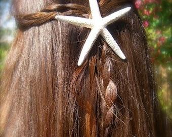 Starfish Hair Clip,Starfish Hair Accessories,Beach Wedding,Beach Hair Accessories,Beach Photo Prop,Destination Wedding,Mermaid Accessories