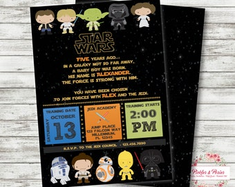 Star Wars Birthday Invitation Personalized Star Wars Party Etsy