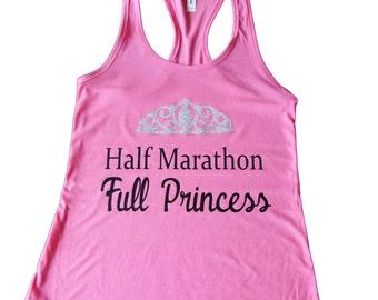 Princess Shirt, Half Marathon Shirt, Princess Half Marathon Costume, Princess Costume, Fairy Tale Shirt, Workout Tank Top
