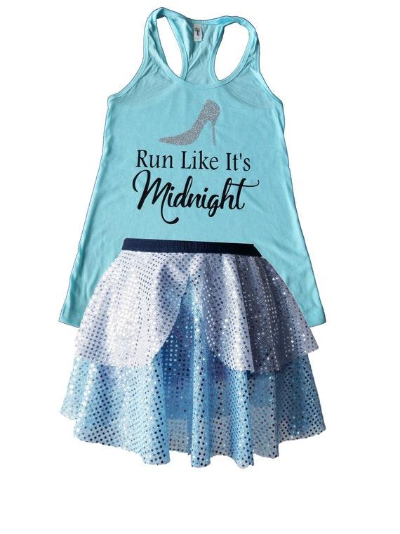 3051fb28b5eb Cinderella Running Costume, Cinderella Costume, Cinderella Shirt, Fairy  Tale Shirt, Cinderella Tank, Sparkle Skirt, Running Skirt
