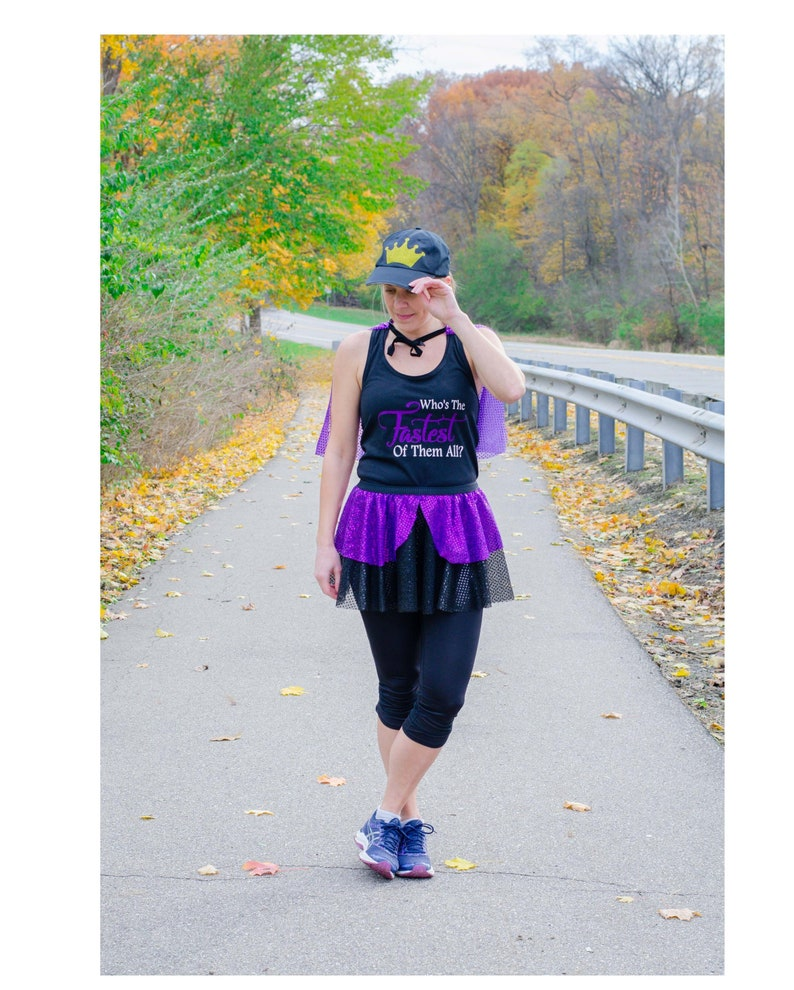 b5f8a6c2891d Evil Queen Running Costume, Snow White Costume, Whos the Fastest of them  all Shirt, Fairy Tale Shirt, Cinderella Tank, Sparkle Skirt