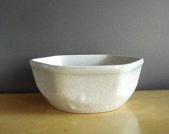 Rainy Day Grey - Vintage Stoneware Serving Bowl in Lovely Shade of Gray