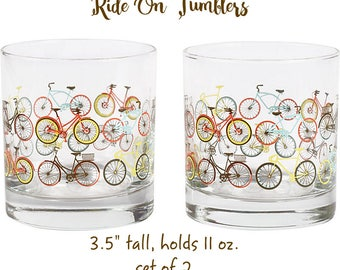 CYCLIST GIFT SET - Paper Source Ride On Tumblers with 6 Note Cards - Gift Set - Gift wrap and card available