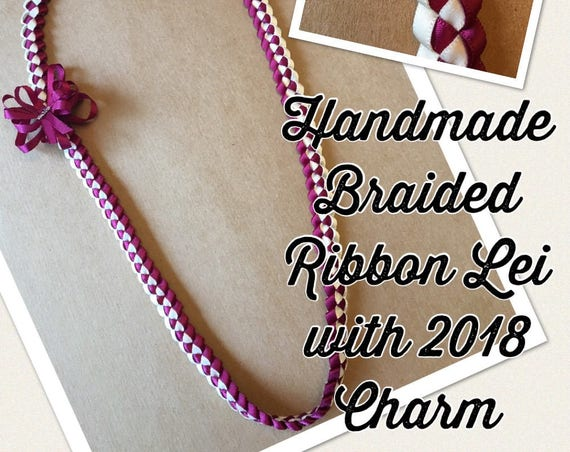 Braided Ribbon Lei Double Layer CUSTOM ORDER ONLY Handmade Graduation Hawaiian College Birthday Wedding Bride Luau Mahalo Aloha Ohana