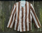 Boys Jacket, Jack Tar Togs, Kids Costume, Striped Jacket, 50s Jacket, Vintage Jacket, Brown Jacket, Galey Lord, 50s Costume, Stage Costume