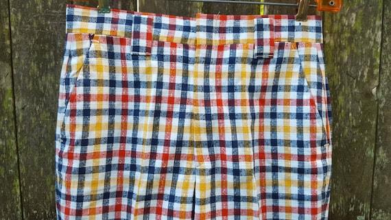Rare! Mens Vintage Pants, 70s Plaid Pants, 70s Pa… - image 5
