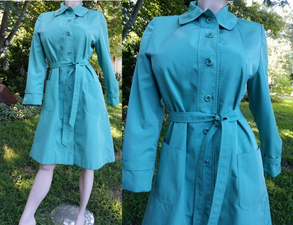 Womens Trench Coat, Vintage Trench Coat, 60s Coat,
