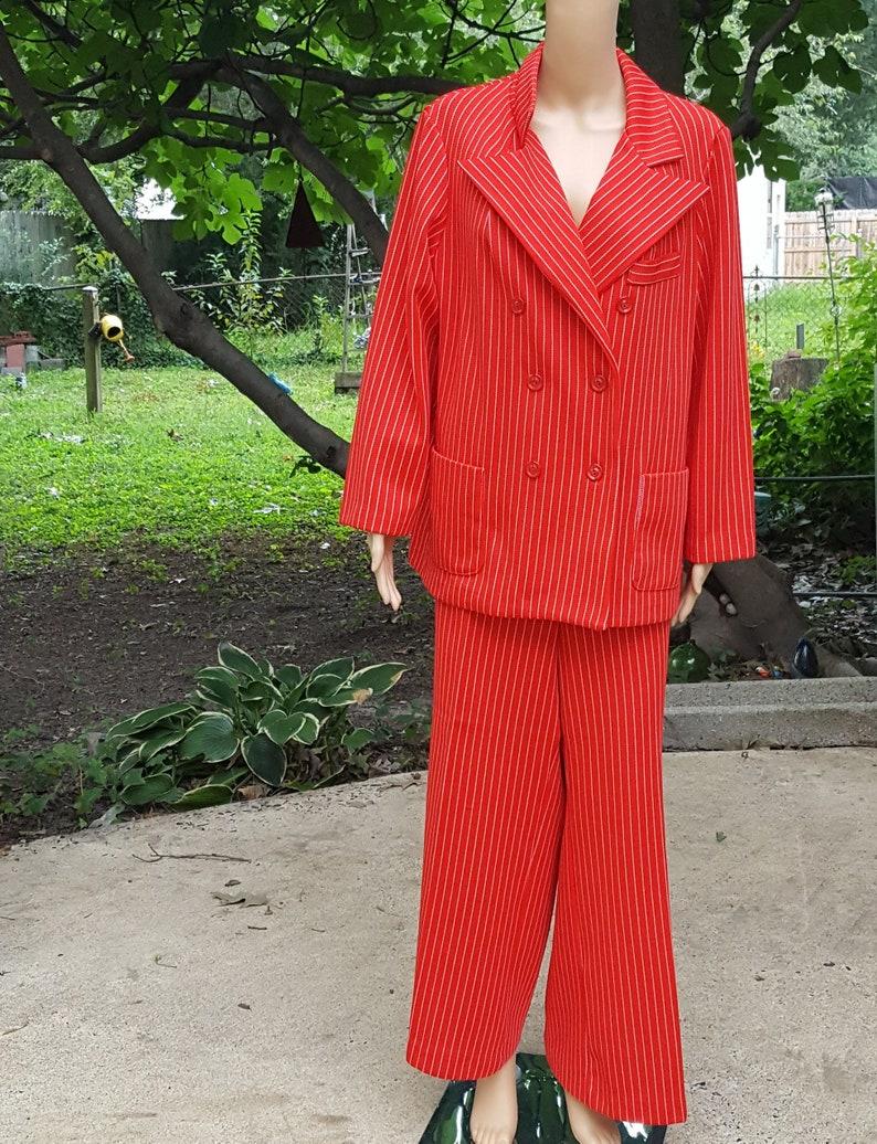 Plus Size Womens 70s Pantsuit Vintage Pants Bell Bottoms image 0