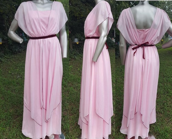Bridesmaid Dress 70s Costume Vintage Vintage Evening Dress Dress Dress Dress Style Gown Prom Wedding Dress Vintage Grecian 70s Toga z4fnq