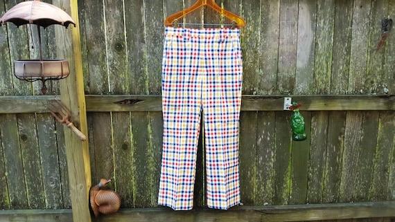 Rare! Mens Vintage Pants, 70s Plaid Pants, 70s Pa… - image 2