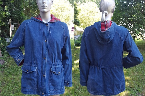 80s Jacket, L.L. Bean Jacket, Denim Jacket, Flanne