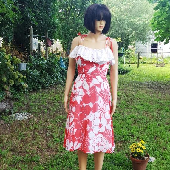 Off the Shoulder Dress, 70s Dress, Vintage Dress,