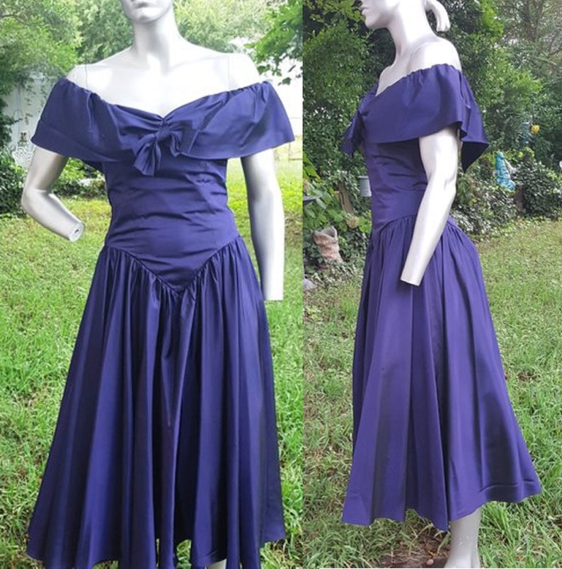 0879ea9aca 80s Prom Dress Vintage Bridesmiad Dress Purple Prom Dress
