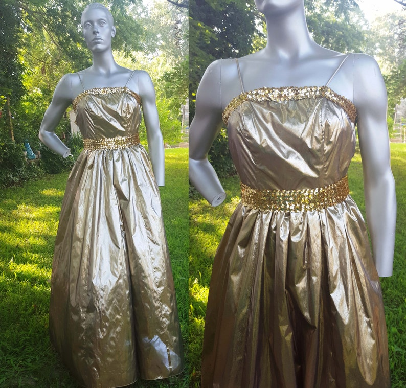 b3289624af 80s Prom Dress Gold Prom Dress JC Penney 80s Bridesmaid