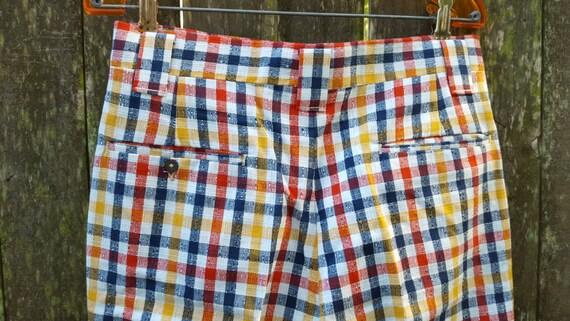 Rare! Mens Vintage Pants, 70s Plaid Pants, 70s Pa… - image 4