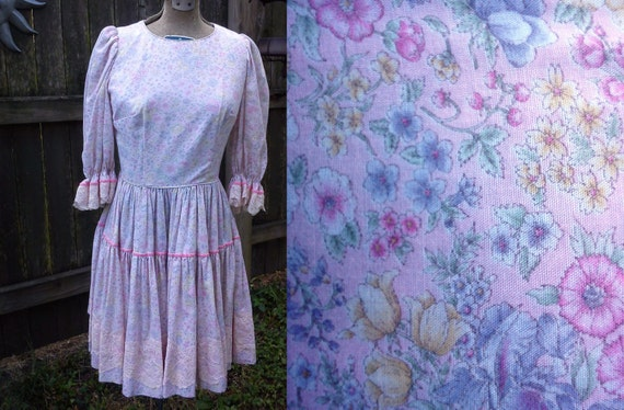 Square Dancing Dress, Vintage Dress, 70s Dress, 70