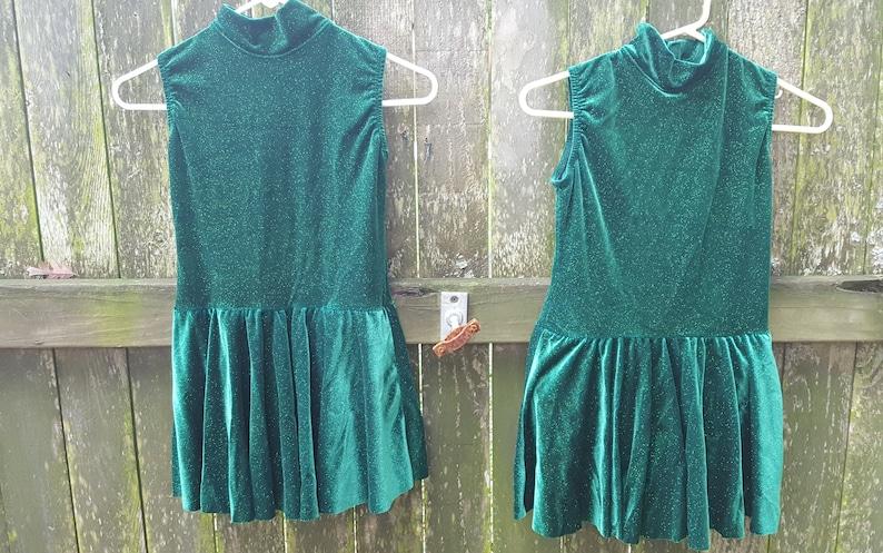 Vintage Costume Leotards Girls Costume Leotards for Girls Green Costume Velour Leotards Dance Costume Sparkly Costume Stage Costume