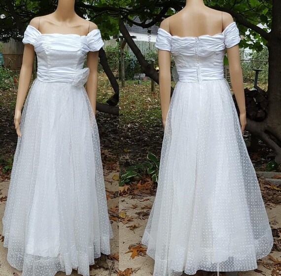 80s Prom Dress, 80s Wedding Dress, 80s Dress, Evening Gown, Alyce Designs, White Prom Dress, Vintage Wedding, Evening Dress, Dress Size 0