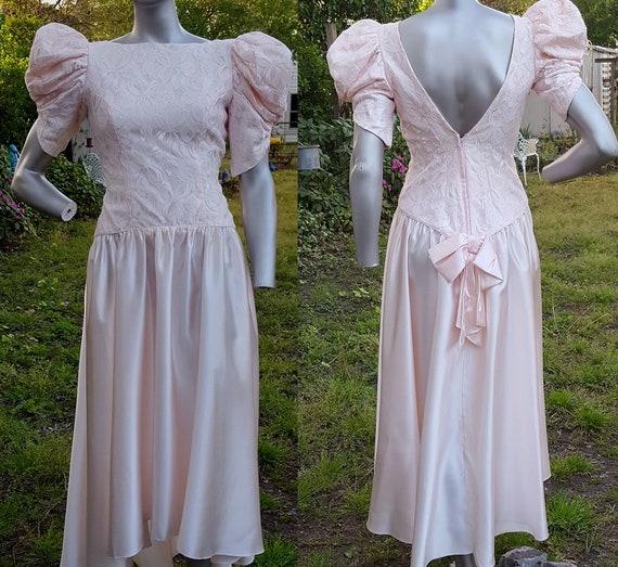 80er Jahre Abendkleid Jahrgang Brautjungfernkleid 80er | Etsy