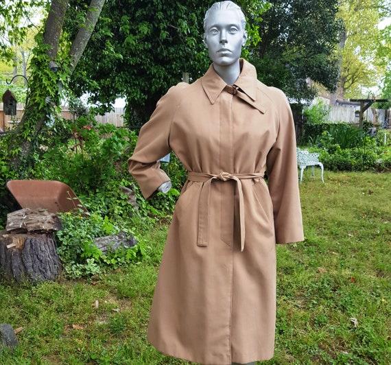Womens  Coat, 70s Trench Coat, Vintage Coat, Rain