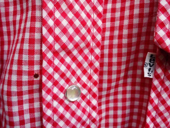 Mens Shirt, 70s Western Shirt, Vintage Shirt, Red… - image 4