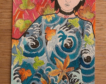 Autumn, fashion ink painting
