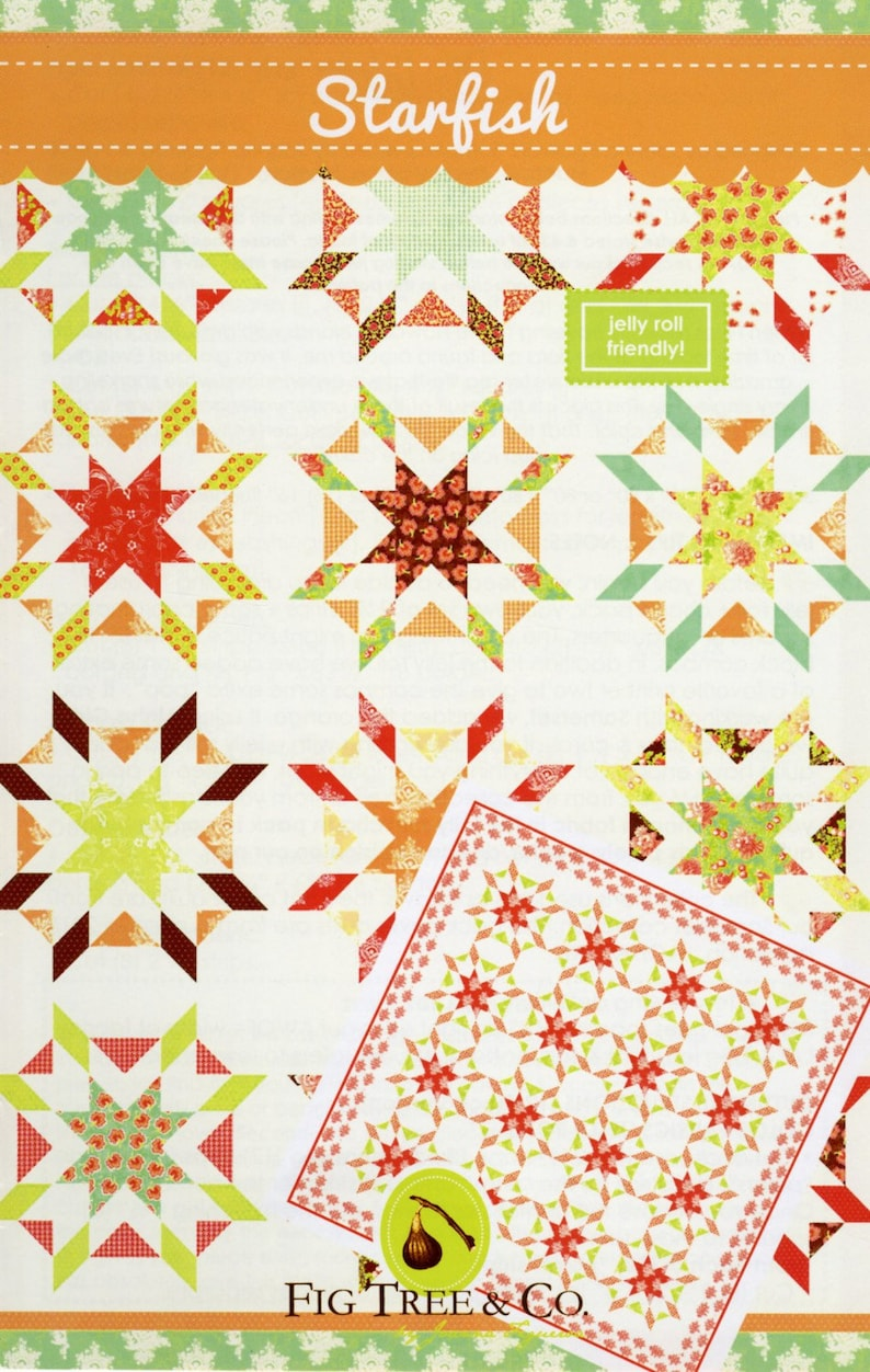 Patter From Fig Tree Quilts By Joanna Figueroa:  Starfish image 0