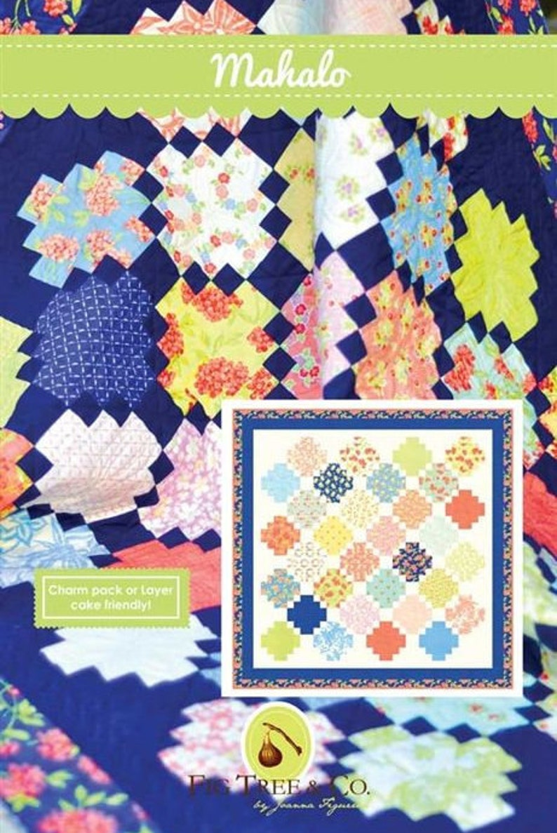 Fig Tree & Co. Quilt Pattern by Joanna Figueroa:  Mahalo image 0