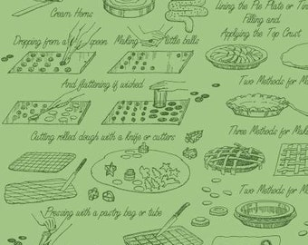 Snow Sweet Vintage Cookbooks Green - C9674R-GREEN