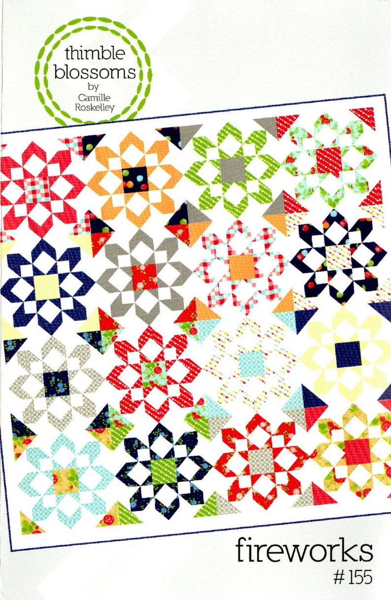 Fireworks pattern by Thimble Blossoms by Camille Roskelley image 0