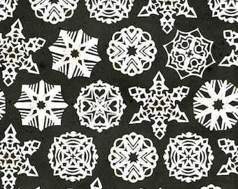 Snow Sweet Paper Snowflakes Charcoal - C9668R-CHARC