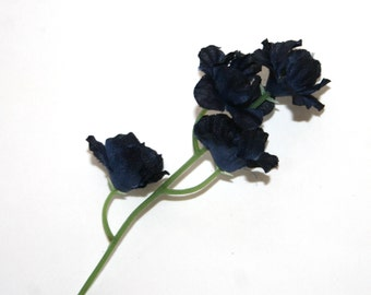 Navy silk flowers etsy 50 navy blue blossoms artificial flowers silk flower blossoms pre order mightylinksfo