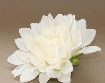 Large silk flower etsy large cream dinner plate dahlia artificial flower silk flower flower head mightylinksfo