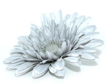 Gray silk flowers etsy light grey or gray daisy arificial flowers silk flowers mightylinksfo
