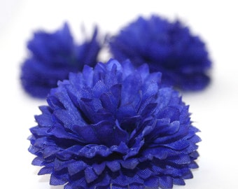 Blue silk flower etsy 3 royal blue cornflower artificial flowers silk flower pre order mightylinksfo