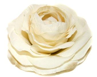 1 Buttermilk Silk Ranunculus - Artificial Flowers, Silk Flower Heads - PRE-ORDER