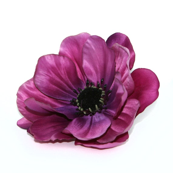 Violet anemone artificial flowers silk flowers etsy image 0 mightylinksfo