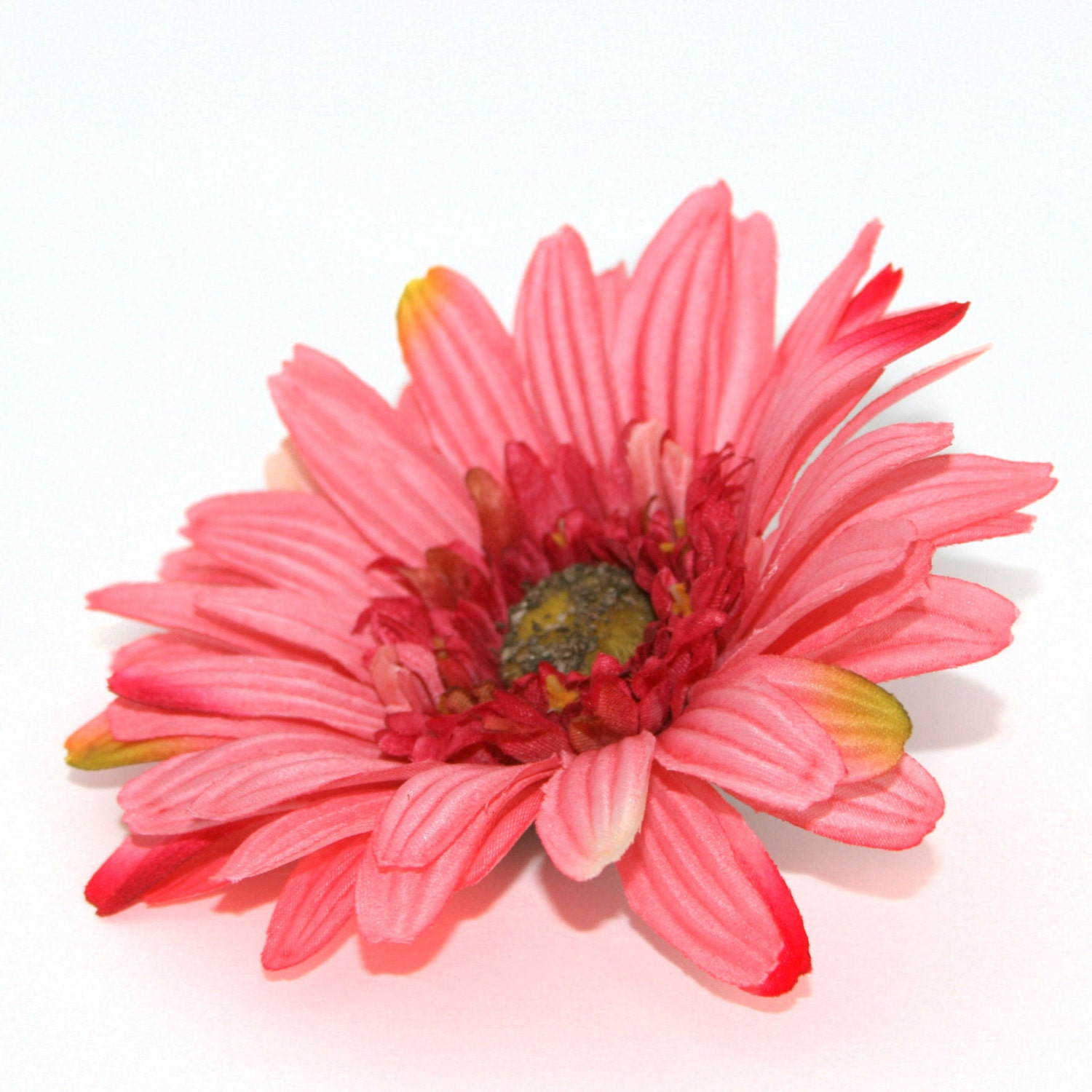 Textured Popsicle Pink Gerbera Daisy Artificial Flowers Etsy