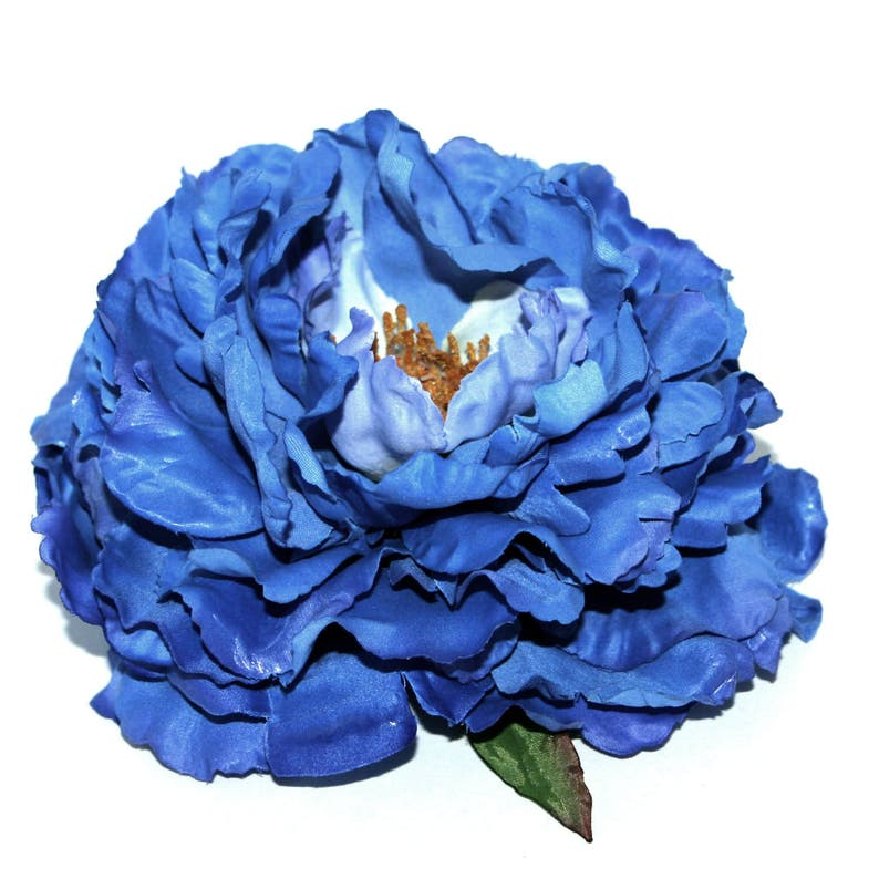 Artificial  Flower Heads Silk Flowers Limited Quantities Navy Blue with Violet Highlights Peony
