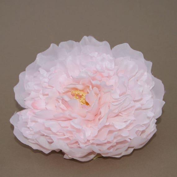 Blush pink peony artificial flower silk flower heads etsy image 0 mightylinksfo