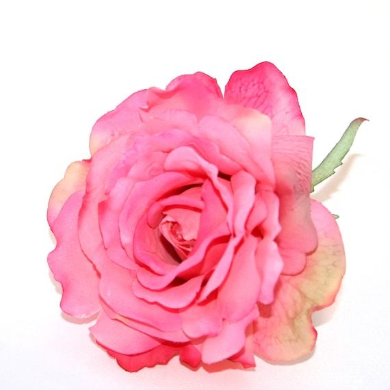 Pink georgia rose artificial flowers silk flower heads etsy image 0 mightylinksfo