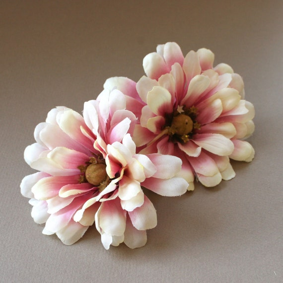 2 violet cream zinnia artificial flowers silk flowers etsy image 0 mightylinksfo