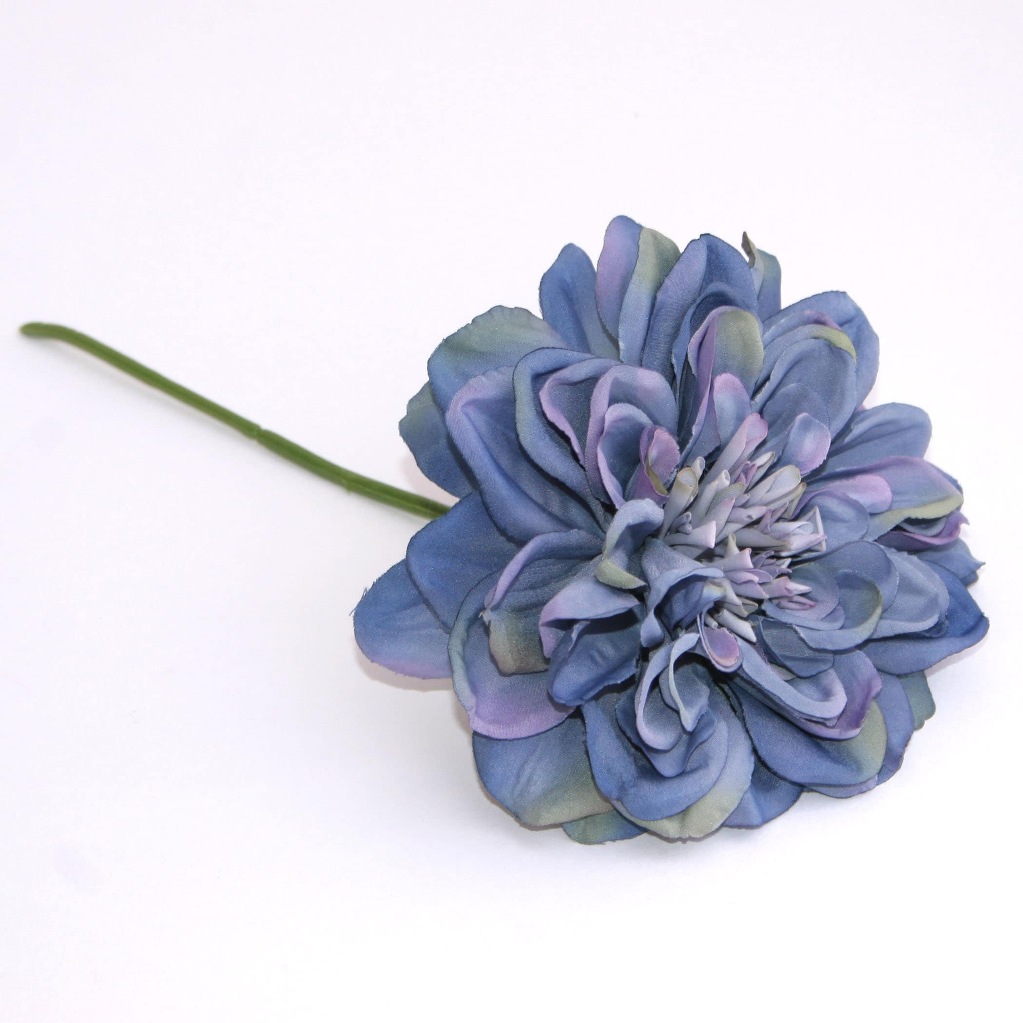 Blue Violet Silk Dahlia Pick Artificial Flower Silk Flower Etsy