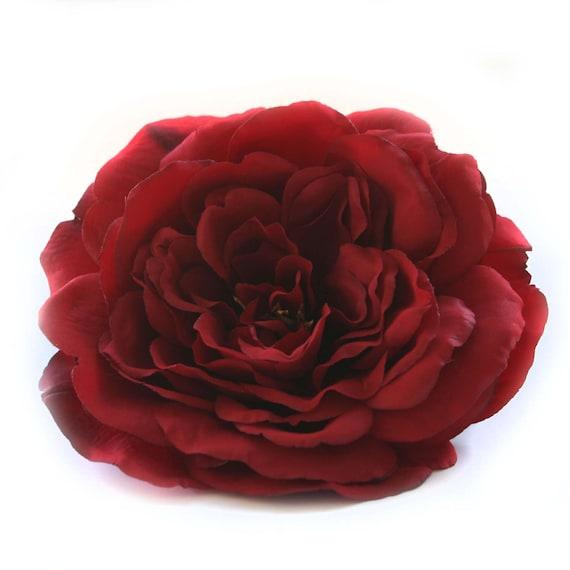 1 grand rouge profond Sophia Rose - fleurs en soie, fleurs artificielles PRE-ORDER