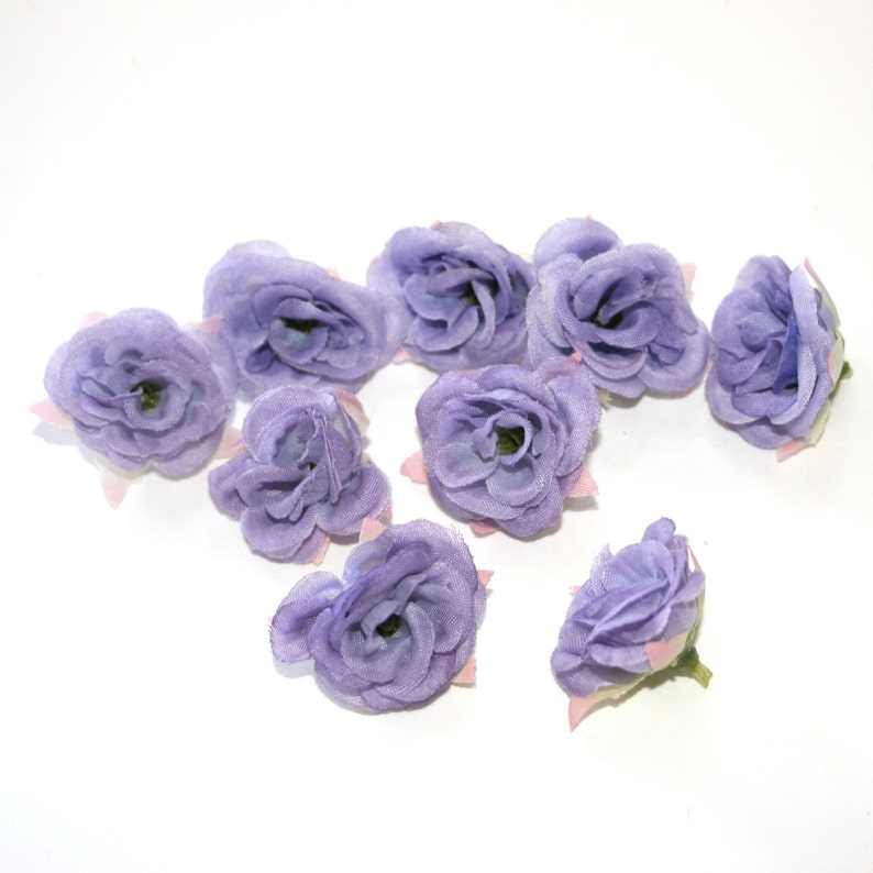Silk Roses 9 Baby Lavender Roses Artificial Flowers