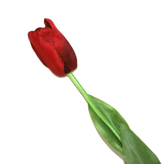 Red long stem tulip pre order artificial flowers silk etsy image 0 mightylinksfo