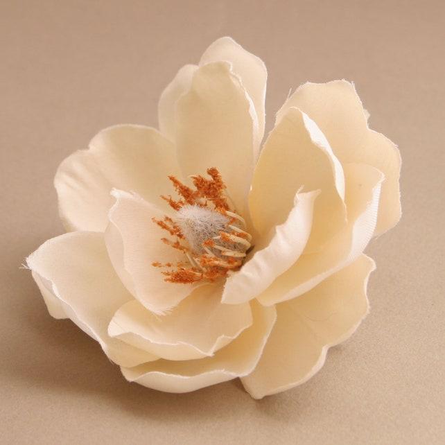 Large cream magnolia artificial flowers silk flowers etsy image 0 mightylinksfo