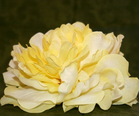 1 Large Yellow Silk Peony Artificial Flowers Silk Flowers Etsy