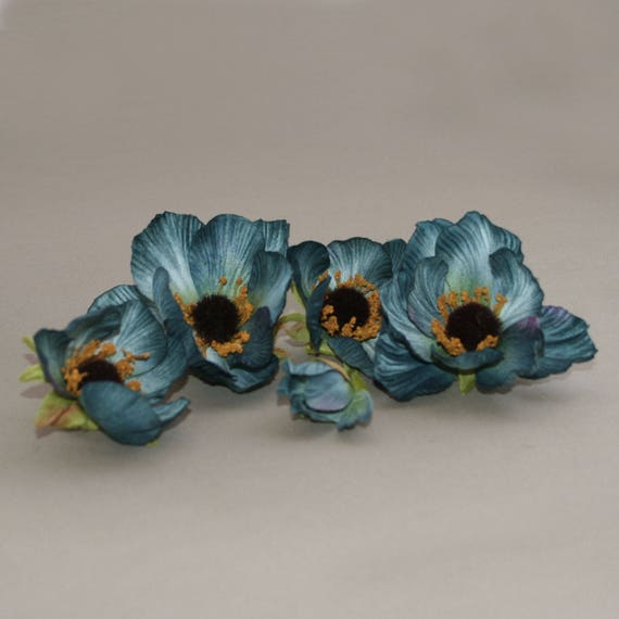 5 fabulous teal blue cosmos bud to bloom artificial etsy image 0 mightylinksfo