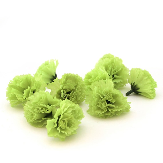 25 lime green baby carnations artificial flowers silk etsy image 0 mightylinksfo